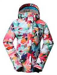 cheap -GSOU SNOW Women's Ski Jacket Ski / Snowboard Winter Sports Thermal / Warm Waterproof Windproof Polyester Winter Jacket Ski Wear / Quick Dry / Fleece Lining