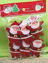 cheap -Christmas Tree Ornaments Santa Suits Carbon Fiber Plastic Nylon Toy Gift 6 pcs