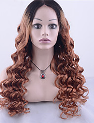 cheap -grade 9a peruvian virgin hair lace front wig loose wave hair two tone ombre black blonde color human virgin hair for fashion woman