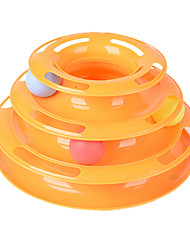 cheap -Cat Ball Tracks Ball Interactive Training Cat Pet Toy 1 Durable Colorful Plastic Gift