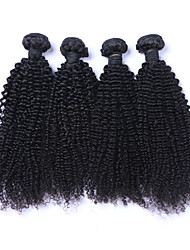 cheap -Brazilian Hair Curly / Curly Weave Natural Color Hair Weaves Human Hair Weaves Natural Black