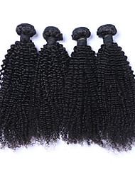 cheap -4 Bundles Brazilian Hair Curly Curly Weave Human Hair Natural Color Hair Weaves / Hair Bulk Human Hair Weaves Human Hair Extensions