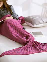 Недорогие -ТрикотажОкраска в пряже Сплошная 100% акрил одеяла