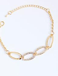 cheap -Women's Chain Bracelet Personalized Rhinestone Bracelet Jewelry Rose Gold For Party Birthday Daily Casual / Imitation Diamond