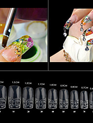 cheap -500pcs-pack-clear-glass-false-acrylic-nail-art-tips-salon-nail-beauty-artificial-fake-glaze-nails-design-tools