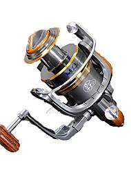 cheap -Fishing Reel Spinning Reel 5.2:1 Gear Ratio+10 Ball Bearings Hand Orientation Exchangable General Fishing - HYD2000