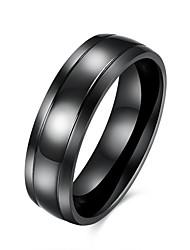 Недорогие -Муж. Кольцо Черный Нержавеющая сталь Титановая сталь Вольфрамовая сталь европейский Первоначальные ювелирные изделия инжиниринг Для вечеринок Повседневные Бижутерия