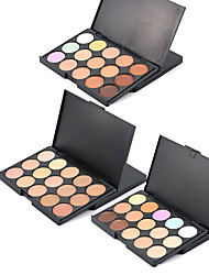 cheap -3 Colors Makeup Set Pressed powder Concealer / Contour Wet / Combination Moisture / Concealer / Natural Face # Natural Makeup Cosmetic
