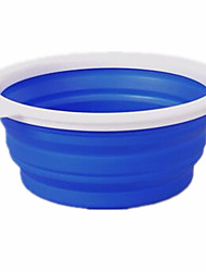cheap -Cat Dog Bowls & Water Bottles Pet Bowls & Feeding Portable Foldable Red Green Blue