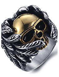 cheap -Men's Statement Ring Ring Silver Titanium Steel Vintage Punk Fashion Halloween Daily Jewelry Mexican Sugar Skull Skull Calaveras