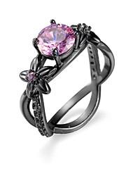 cheap -Women's Ring AAA Cubic Zirconia Amethyst Blue Pink Zircon Cubic Zirconia Steel European Simple Style Fashion Casual Jewelry