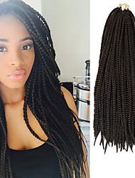 Недорогие -Косые оплетки Спиральные плетенки Волосы Черный Темно-рыжий Искусственные волосы 100% волосы канекалона Kanekalon косы 24 дюймовый Волосы для кос 30 корней / пакет