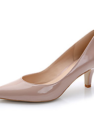 cheap -Women's Heels Stiletto Heel Pointed Toe Patent Leather Spring / Summer Black / Red / Light Pink / Wedding / Dress / 2-3