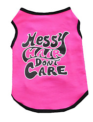 cheap -Dog Vest Dog Clothes British Rose Cotton Costume For Summer Men's Women's Casual / Daily