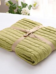 Недорогие -Трикотаж,Сплошная Сплошной цвет 100% хлопок одеяла
