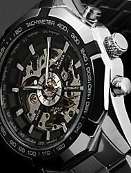 cheap -Men's Sport Watch Fashion Watch Dress Watch Automatic self-winding Luxury Water Resistant / Waterproof Analog White Black / Calendar / date / day