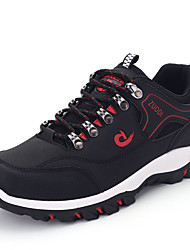 cheap -Men's Comfort Shoes PU Spring / Fall Athletic Shoes Hiking Shoes Black / Earth Yellow / Light Green / Lace-up / EU40