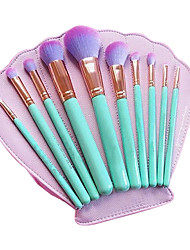 cheap -Professional Makeup Brushes Makeup Brush Set 10pcs Eco-friendly Professional Full Coverage Limits Bacteria Synthetic Hair / Artificial Fibre Brush Wood Makeup Brushes for