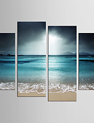 cheap -Print Rolled Canvas Prints - Landscape Fantasy Realism Modern Four Panels Art Prints
