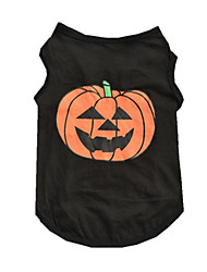cheap -Dog Shirt / T-Shirt Vest Dog Clothes Pumpkin Black Cotton Costume For Spring &  Fall Summer Men's Women's Casual / Daily Halloween