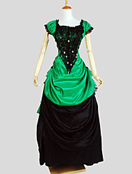 cheap -Victorian Costume Women's Outfits Vintage Cosplay Charmeuse Short Sleeve Cap Sleeve Asymmetrical