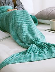 Недорогие -Трикотаж,Окраска в пряже Сплошной цвет 100% акрил одеяла