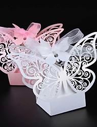 cheap -Pearl Paper Favor Holder with Ribbons Favor Boxes - 50