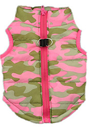cheap -Dog Vest Dog Clothes Camo / Camouflage Pink Cotton Costume For Spring &  Fall Winter Men's Women's Casual / Daily
