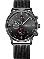 cheap -MEGIR Men's Sport Watch Fashion Watch Analog Quartz Digital Charm Calendar / date / day / Stainless Steel