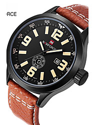 Недорогие -Муж. Спортивные часы Армейские часы Нарядные часы Модные часы Наручные часы Кварцевый Цифровой Календарь Крупный циферблатНатуральная