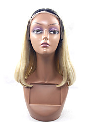 cheap -Synthetic Wig Straight Straight Lace Front Wig Blonde Black / Honey Blonde Synthetic Hair Blonde