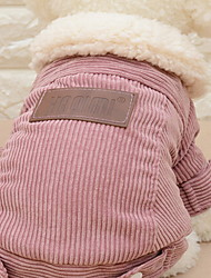 cheap -Dog Coat Winter Dog Clothes Red Coffee Costume Cotton Solid Colored XS S M L XL