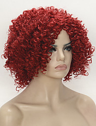 cheap -Synthetic Wig Curly Curly Wig Medium Length Synthetic Hair Women's Red StrongBeauty