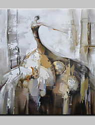 cheap -Oil Painting Hand Painted - People Modern European Style Stretched Canvas