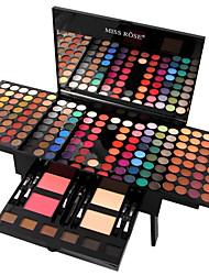Недорогие -MISS ROSE 180 цветов Тени / Комплект для теней для век / Пудры Румянец / Highlighter / Bronzer Мода Стойкий Повседневный макияж косметический