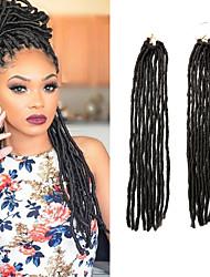 cheap -Braiding Hair Crochet Dreadlocks / Faux Locs 100% kanekalon hair / Kanekalon 20 roots / pack Hair Braids Dreadlock Extensions / Dreads Locs / Crochet Faux Dreads