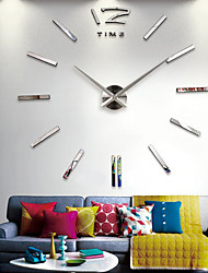 cheap -Wall Clock Quartz Watch Large Decorative Clocks Europe Acrylic Stickers Living Room