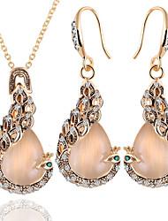 cheap -Women's Opal Jewelry Set Peacock European Opal Earrings Jewelry Gold For Daily