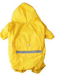 cheap -Dog Hoodie Rain Coat Dog Clothes Warm Camouflage Color Yellow Red Costume Fabric Solid Colored Waterproof Sports XS S M L XL XXL