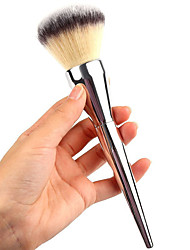 cheap -Professional Makeup Brushes Powder Brush 1pcs Professional Synthetic Hair / Artificial Fibre Brush Metal Powder Brushes for Powder Brush