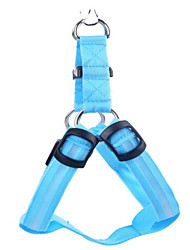 cheap -Dog Harness Electronic / Electric Solid Colored Nylon Blue