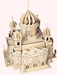 cheap -Wooden Puzzle Famous buildings Chinese Architecture House Professional Level Wooden 1 pcs Boys' Girls' Toy Gift