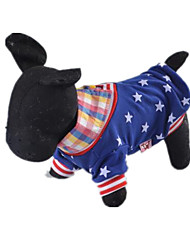 cheap -Dog Shirt / T-Shirt American / USA Casual / Daily Dog Clothes Blue Costume Cotton XXS XS S M L