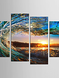 cheap -Print Rolled Canvas Prints - Landscape Still Life Classic Modern Four Panels Art Prints