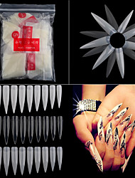 cheap -500pcs pack long sharp stiletto false acrylic nail art tips