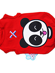 cheap -Dog Shirt / T-Shirt Vest Dog Clothes Cartoon Cotton Costume For Spring &  Fall Winter Men's Women's Casual / Daily