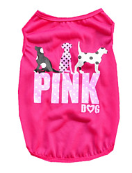 cheap -Dog Shirt / T-Shirt Vest Dog Clothes Purple Green Rose Costume Terylene Letter & Number Casual / Daily XS S M L