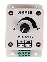 cheap -PWM Dimming Controller For LED Lights or Ribbon 12 Volt 8 AmpAdjustable Brightness Light Switch Dimmer Controller DC12V 8A 96W for Led Strip Light