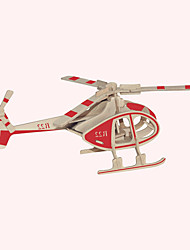 cheap -Wooden Puzzle Plane / Aircraft Famous buildings Chinese Architecture Professional Level Wooden 1 pcs Helicopter Kid's Boys' Girls' Toy Gift