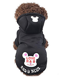 cheap -Cat Dog Hoodie Dog Clothes Cartoon Black Blue Pink Cotton Costume For Spring &  Fall Winter Men's Women's Casual / Daily